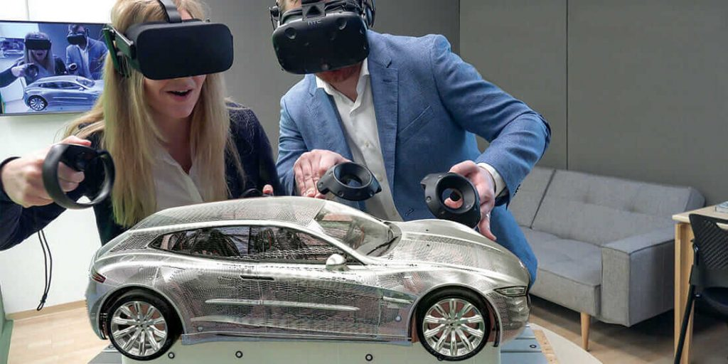 Creating virtual reality from 3D models is very applicable in the automotive industry