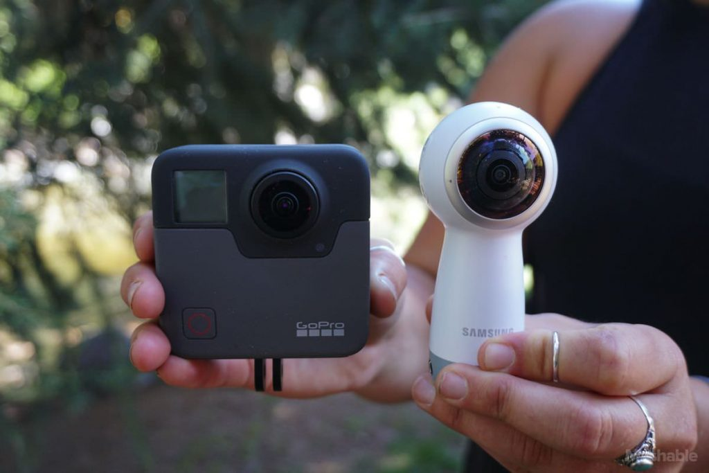 GoPro Fusion 360 camera in comparison with Gear360 (v2017)