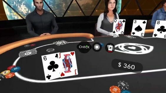 Poker is one of the sports using VR