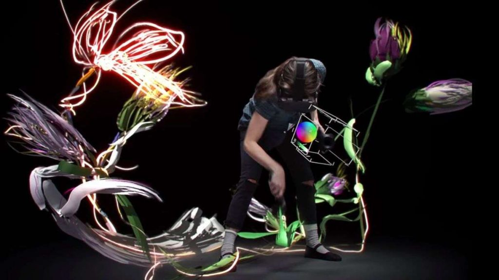 Using Tilt Brush to create art in virtual reality