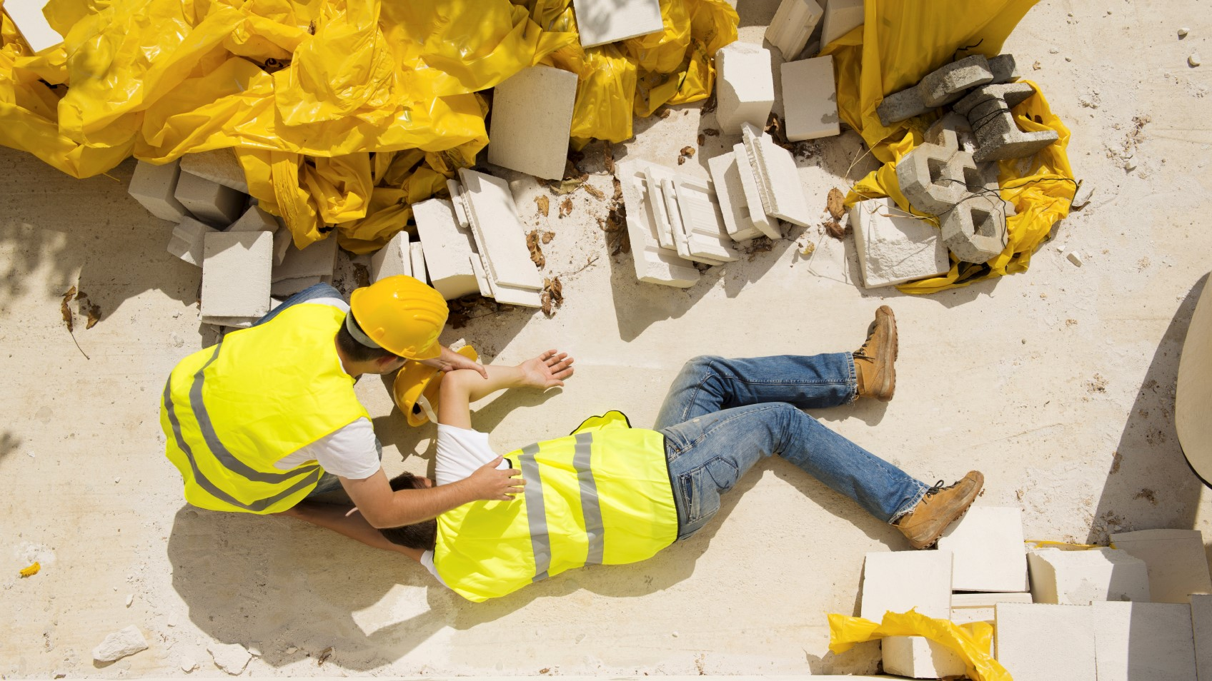 Construction worker has an accident that could be prevented with good OSHA training
