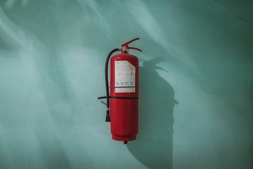 A fire extinguisher safety training