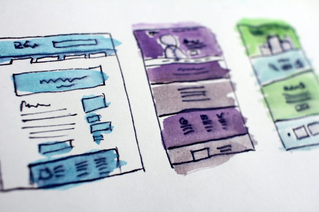 Web design sketch for website