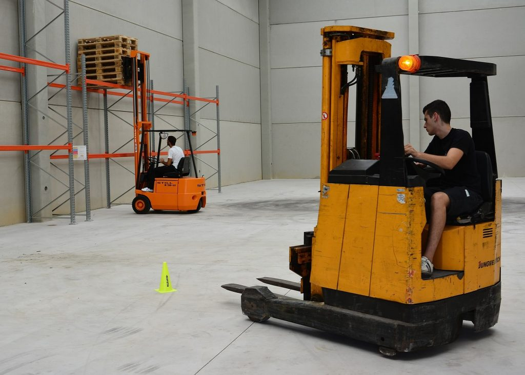 virtual reality training could replace some real world training like this forklift training