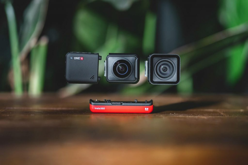 A camera that can shoot 360˚ videos