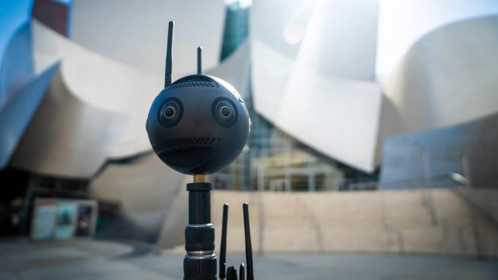 A 360 degree camera which is used for cinematic virtual reality